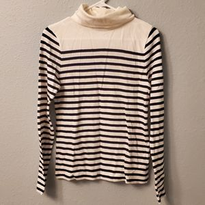 J. Crew Size M White Black Striped Sweater